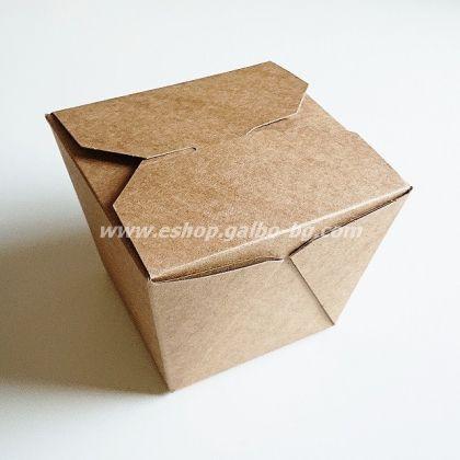 Картонена крафт кутия за паста и спагети 900 мл  480 бр