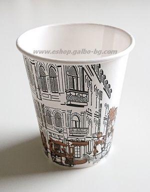 Картонена чаша ГРАДЪТ 7 oz (150 мл) 100 бр.