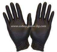 Ръкавици за еднократна употреба НИТРИЛ ЧЕРНИ  100 бр. L