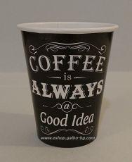 Картонена чаша 8 oz (200 мл) Vintage Coffee  1050 бр