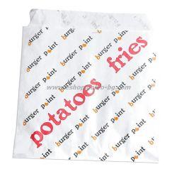 Плик за малки картофки с печат ВР, размер 11*11 см, 4500 бр В ПРОМОЦИЯ