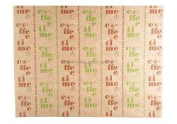 Хартиена подложка за сервиране, кафява с печат Coffee Time  35*46 см - 1000 бр. В ПРОМОЦИЯ