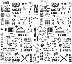 Хартия за сервиране и презентация с печат BBQ TIME 35*27 см - 500 бр