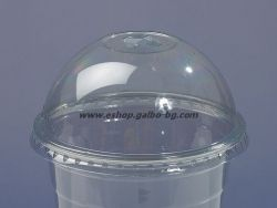 Капак DL96 за РЕТ чаша, тип Бомбе с цепка за сламка, 95 мм   1000 бр