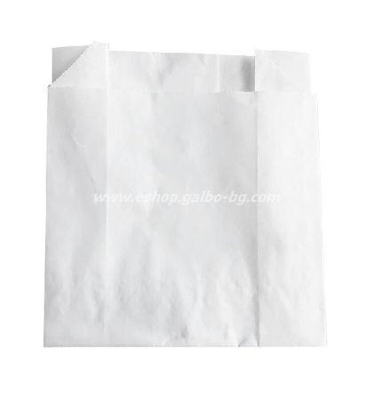 Хартиен плик за картофки 9,5*4*10,5 см, бял маслоустойчив 1000 бр