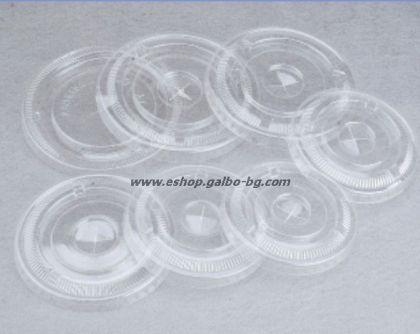 Капак CL95F за РЕТ чаша, плосък с цепка за сламка, 95 мм   1000 бр
