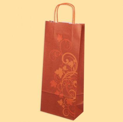 Хартиена чанта за 2 бутилки вино 25 бр.Филизи