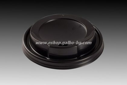 Капак STL 80 мм за картонена чаша 8 / 12 oz -ЧЕРЕН  1000 бр