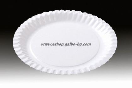 Картонена чиния кръгла 23 см  500 бр